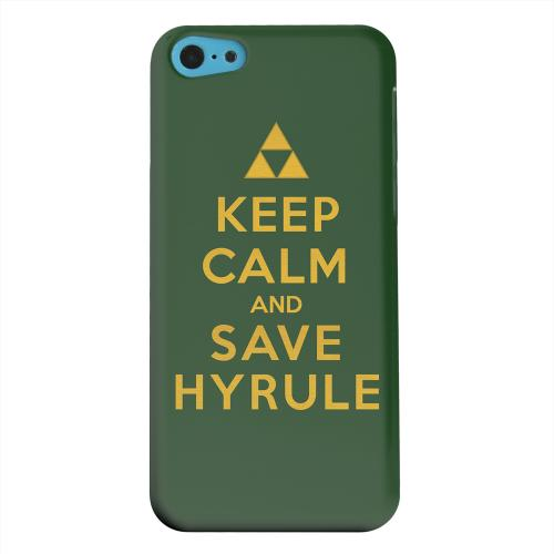 Geeks Designer Line (GDL) Apple iPhone 5C Matte Hard Back Cover - Green Save Hyrule