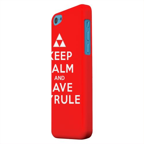 Geeks Designer Line (GDL) Apple iPhone 5C Matte Hard Back Cover - Red Save Hyrule