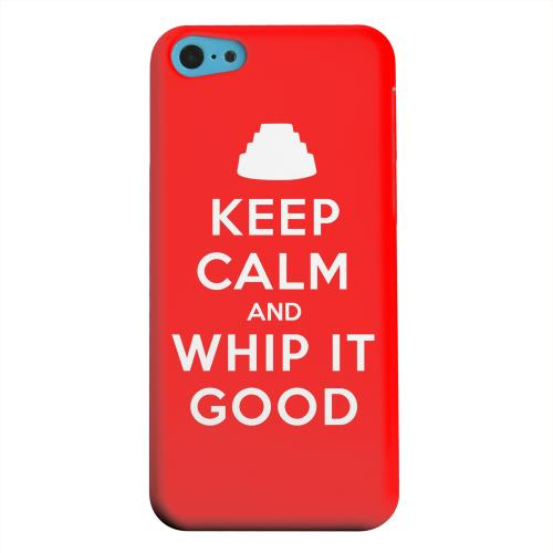 Geeks Designer Line (GDL) Apple iPhone 5C Matte Hard Back Cover - Red Whip It Good