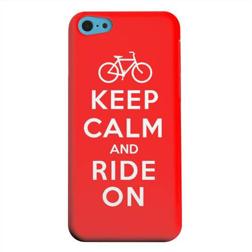 Geeks Designer Line (GDL) Apple iPhone 5C Matte Hard Back Cover - Red Ride On