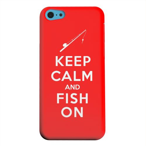 Geeks Designer Line (GDL) Apple iPhone 5C Matte Hard Back Cover - Red Fish On