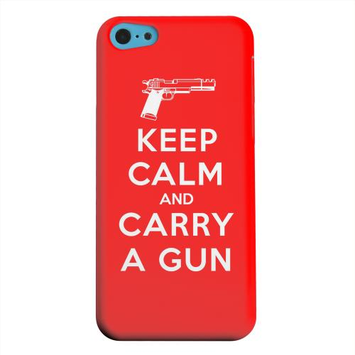 Geeks Designer Line (GDL) Apple iPhone 5C Matte Hard Back Cover - Red Carry A Gun