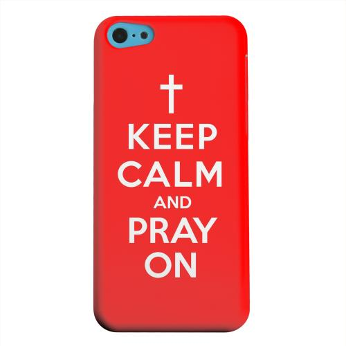 Geeks Designer Line (GDL) Apple iPhone 5C Matte Hard Back Cover - Red Pray On
