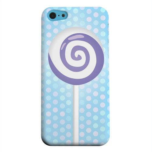 Geeks Designer Line (GDL) Apple iPhone 5C Matte Hard Back Cover - Purple Lollipop