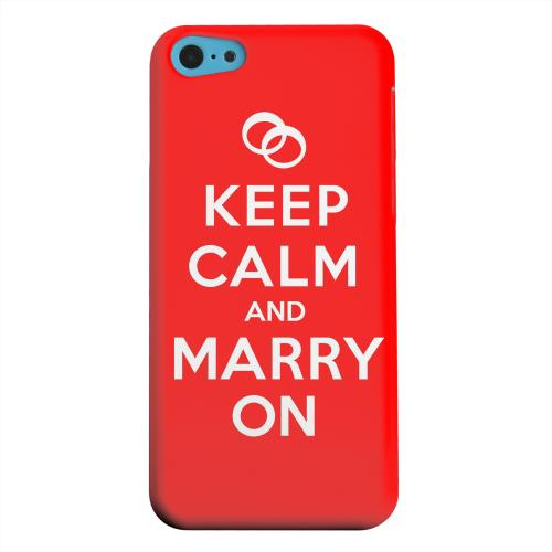 Geeks Designer Line (GDL) Apple iPhone 5C Matte Hard Back Cover - Red Marry On