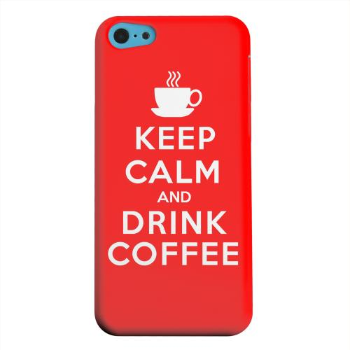 Geeks Designer Line (GDL) Apple iPhone 5C Matte Hard Back Cover - Red Drink Coffee