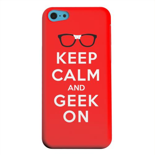 Geeks Designer Line (GDL) Apple iPhone 5C Matte Hard Back Cover - Red Geek On