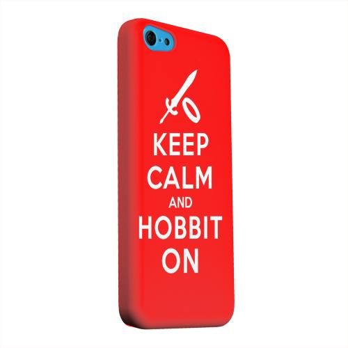 Geeks Designer Line (GDL) Apple iPhone 5C Matte Hard Back Cover - Red Hobbit On
