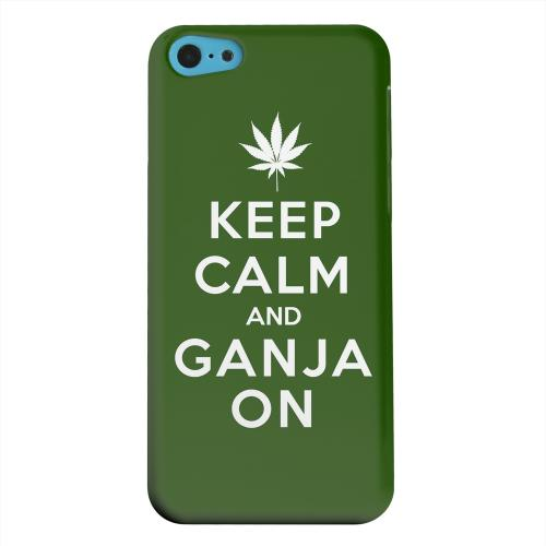 Geeks Designer Line (GDL) Apple iPhone 5C Matte Hard Back Cover - Green Ganja On
