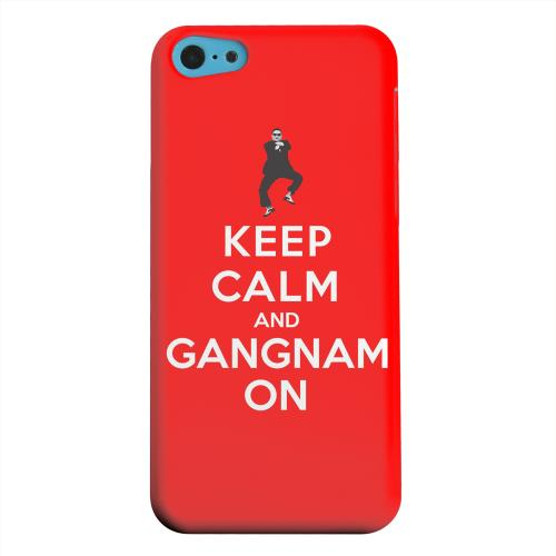 Geeks Designer Line (GDL) Apple iPhone 5C Matte Hard Back Cover - Red Gangnam On