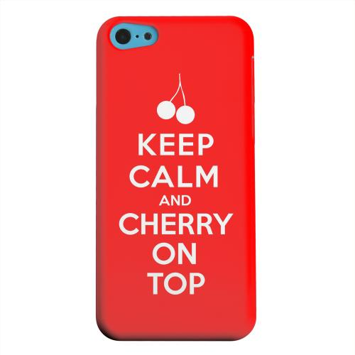 Geeks Designer Line (GDL) Apple iPhone 5C Matte Hard Back Cover - Red Cherry On Top