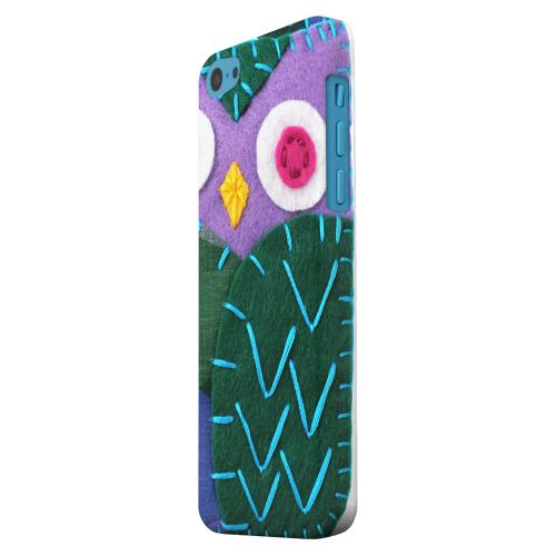 Geeks Designer Line (GDL) Apple iPhone 5C Matte Hard Back Cover - Purple/ Green Owl