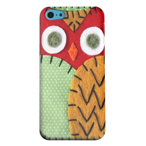 Geeks Designer Line (GDL) Apple iPhone 5C Matte Hard Back Cover - Red/ Orange Owl