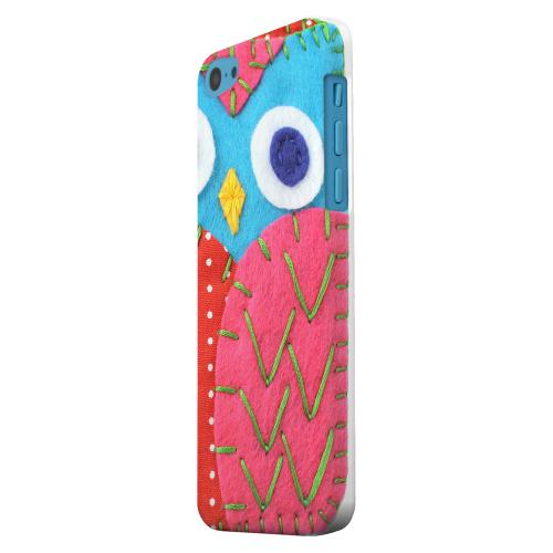 Geeks Designer Line (GDL) Apple iPhone 5C Matte Hard Back Cover - Sky Blue/ Pink Owl