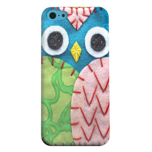 Geeks Designer Line (GDL) Apple iPhone 5C Matte Hard Back Cover - Blue/ Green Owl
