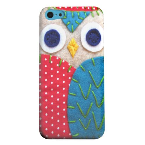 Geeks Designer Line (GDL) Apple iPhone 5C Matte Hard Back Cover - White/ Blue Owl