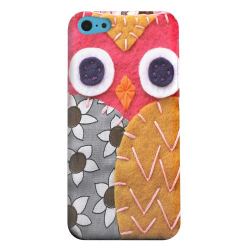 Geeks Designer Line (GDL) Apple iPhone 5C Matte Hard Back Cover - Hot Pink/ Dark Blue Owl