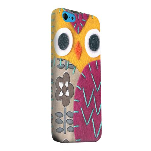 Geeks Designer Line (GDL) Apple iPhone 5C Matte Hard Back Cover - Yellow/ Purple Owl