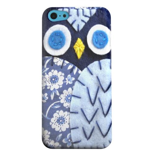 Geeks Designer Line (GDL) Apple iPhone 5C Matte Hard Back Cover - Night Blue Owl