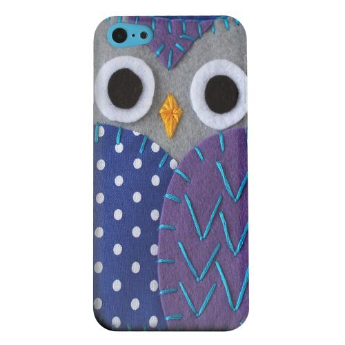 Geeks Designer Line (GDL) Apple iPhone 5C Matte Hard Back Cover - Gray/ Purple Owl