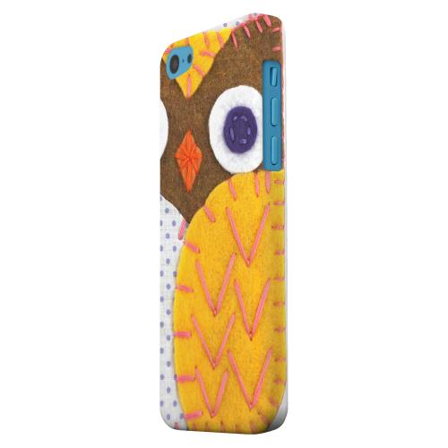 Geeks Designer Line (GDL) Apple iPhone 5C Matte Hard Back Cover - Brown/ Orange Owl