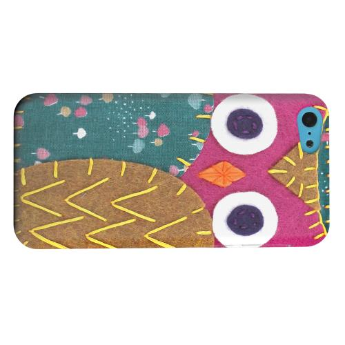Geeks Designer Line (GDL) Apple iPhone 5C Matte Hard Back Cover - Hot Pink/ Brown Owl