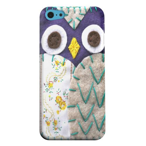 Geeks Designer Line (GDL) Apple iPhone 5C Matte Hard Back Cover - Blue/ Gray Owl