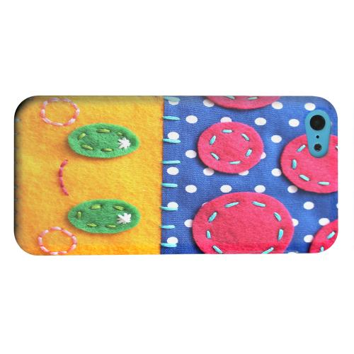 Geeks Designer Line (GDL) Apple iPhone 5C Matte Hard Back Cover - Blue/ Yellow Mushroom