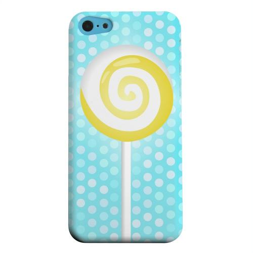 Geeks Designer Line (GDL) Apple iPhone 5C Matte Hard Back Cover - Yellow Lollipop