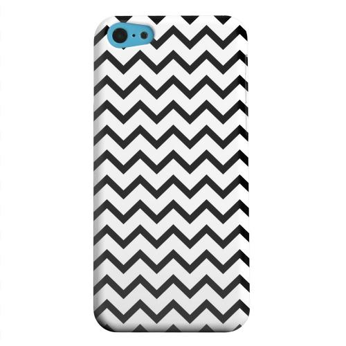 Geeks Designer Line (GDL) Apple iPhone 5C Matte Hard Back Cover - Black on White