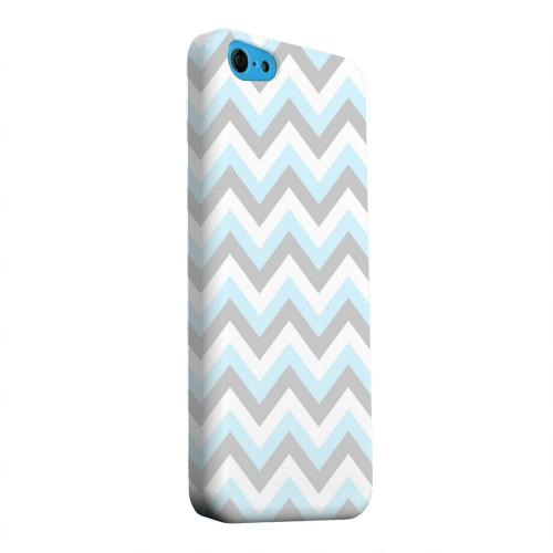 Geeks Designer Line (GDL) Apple iPhone 5C Matte Hard Back Cover - Blue on Gray on White