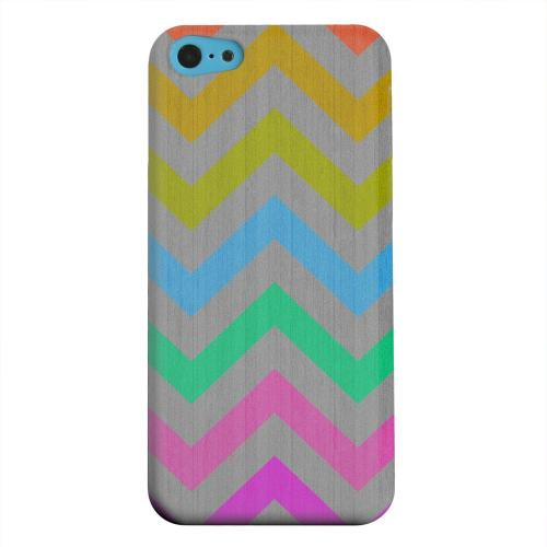 Geeks Designer Line (GDL) Apple iPhone 5C Matte Hard Back Cover - Grungy Multi-Colors on Gray