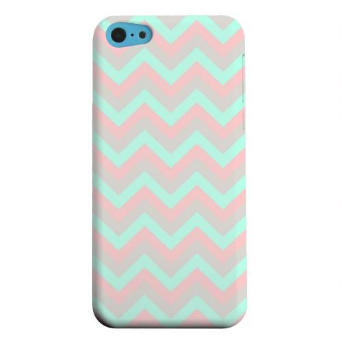 Geeks Designer Line (GDL) Apple iPhone 5C Matte Hard Back Cover - Green on Pink on Gray