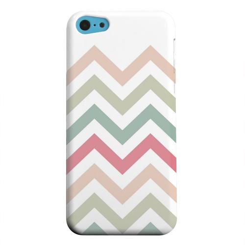 Geeks Designer Line (GDL) Apple iPhone 5C Matte Hard Back Cover - Green/ Red on White