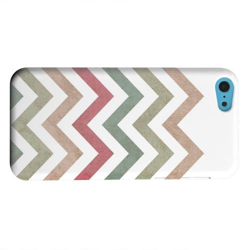 Geeks Designer Line (GDL) Apple iPhone 5C Matte Hard Back Cover - Grungy Green/ Red on White