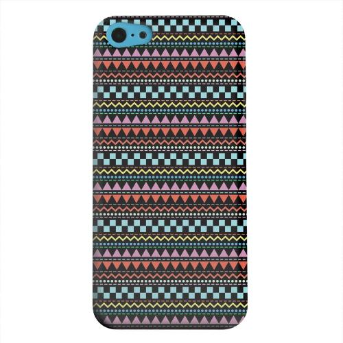 Geeks Designer Line (GDL) Apple iPhone 5C Matte Hard Back Cover - Multi-Shapes & Colors on Black