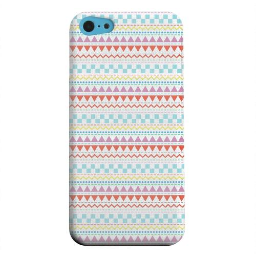 Geeks Designer Line (GDL) Apple iPhone 5C Matte Hard Back Cover - Multi-Shapes & Colors on White