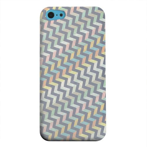 Geeks Designer Line (GDL) Apple iPhone 5C Matte Hard Back Cover - Grungy Pastel Steps