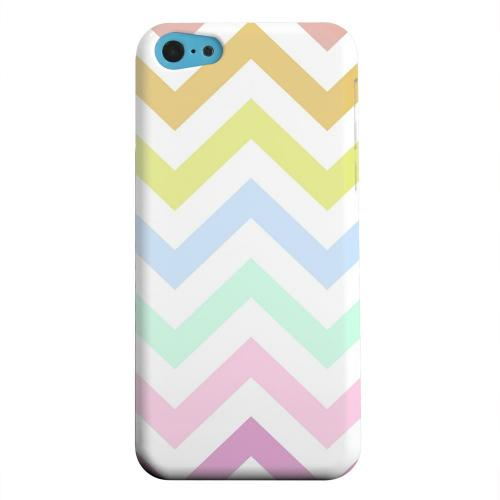 Geeks Designer Line (GDL) Apple iPhone 5C Matte Hard Back Cover - Pastel on White