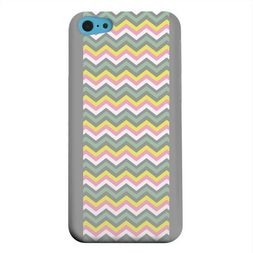 Geeks Designer Line (GDL) Apple iPhone 5C Matte Hard Back Cover - Pink/ Yellow/ Gray/ Green