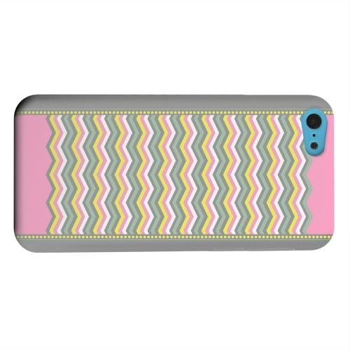 Geeks Designer Line (GDL) Apple iPhone 5C Matte Hard Back Cover - Green/ Yellow Dots w/ Pink & Gray