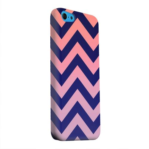 Geeks Designer Line (GDL) Apple iPhone 5C Matte Hard Back Cover - Pink/ Navy Blue Gradient