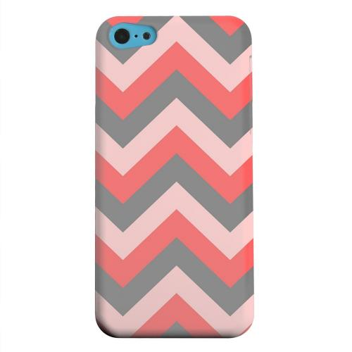 Geeks Designer Line (GDL) Apple iPhone 5C Matte Hard Back Cover - Red on Gray on Pink
