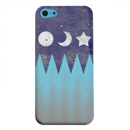 Geeks Designer Line (GDL) Apple iPhone 5C Matte Hard Back Cover - Sun Moon Star
