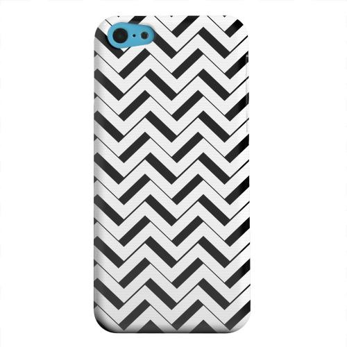 Geeks Designer Line (GDL) Apple iPhone 5C Matte Hard Back Cover - Black/ White 3D
