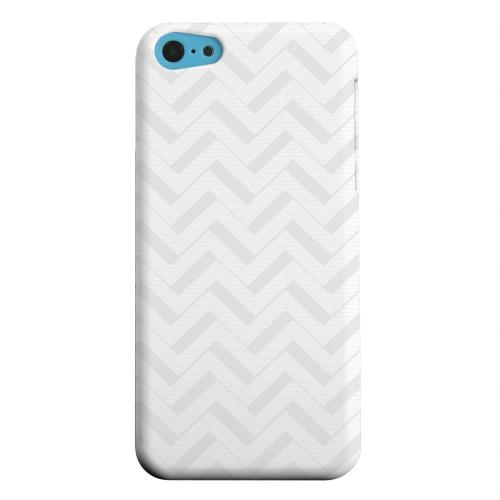 Geeks Designer Line (GDL) Apple iPhone 5C Matte Hard Back Cover - Light Gray/ White 3D
