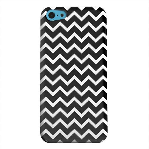 Geeks Designer Line (GDL) Apple iPhone 5C Matte Hard Back Cover - White on Black
