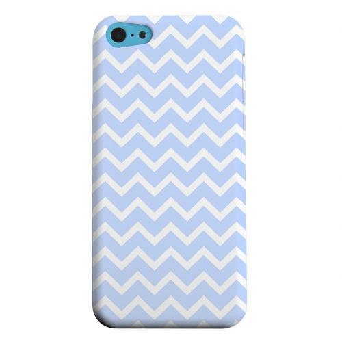 Geeks Designer Line (GDL) Apple iPhone 5C Matte Hard Back Cover - White on Light Blue