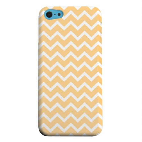 Geeks Designer Line (GDL) Apple iPhone 5C Matte Hard Back Cover - White on Light Orange