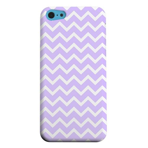 Geeks Designer Line (GDL) Apple iPhone 5C Matte Hard Back Cover - White on Light Purple